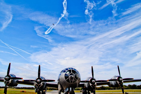 Boeing B-29 Superfortress Airplane Fine Art Print or Canvas Gallery Wrap