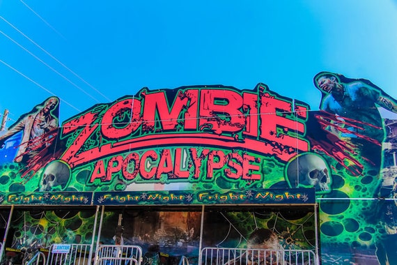 Zombie Apocalypse Carnival Fine Art Print or Canvas Gallery Wrap