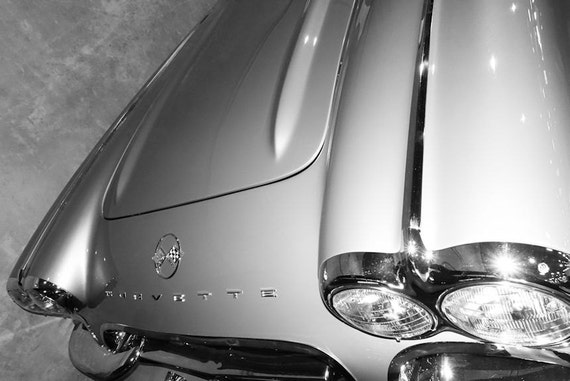 Chevrolet Corvette Car 1962 Fine Art Print or Canvas Gallery Wrap