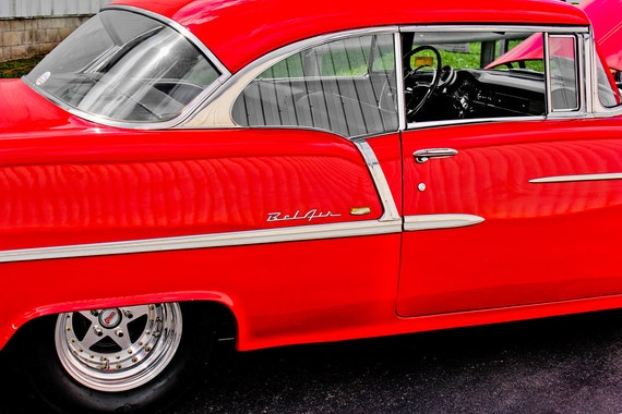 1955 Chevrolet Bel Air Fine Art Print or Canvas Gallery Wrap