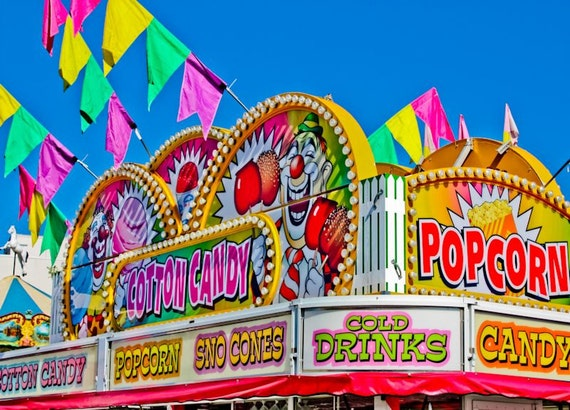 Cotton Candy Carnival Sweets Fine Art Print or Canvas Gallery Wrap