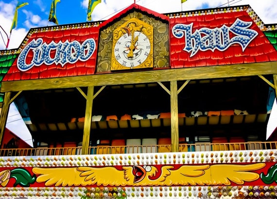 Cuckoo Haus Carnival Ride Fine Art Print or Canvas Gallery Wrap
