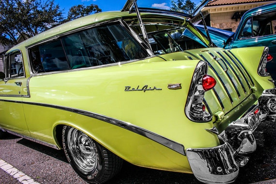 Chevrolet Bel Air Nomad Station Wagon 1956 Fine Art Print or Canvas Gallery Wrap