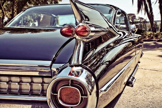 Cadillac Coupe de Ville Car 1959 Fine Art Print or Canvas Gallery Wrap