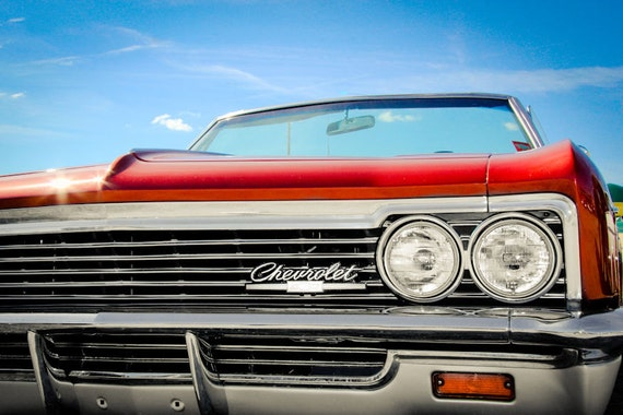 Chevrolet Impala Convertible Fine Art Print or Canvas Gallery Wrap