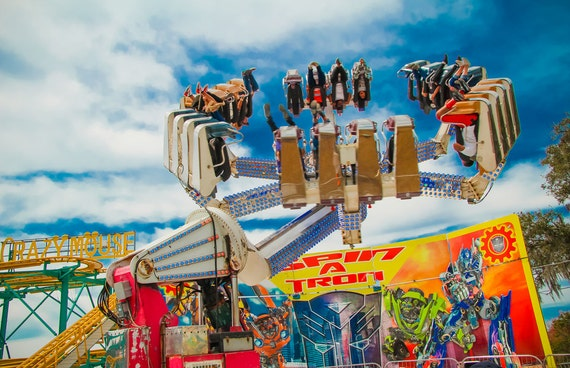 Spin a Tron Carnival Ride Fine Art Print or Canvas Gallery Wrap