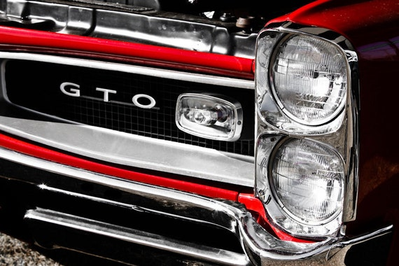 1966 Pontiac GTO Car Fine Art Print or Canvas Gallery Wrap