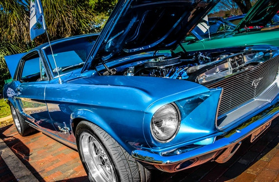1968 Ford Mustang Car Fine Art Print or Canvas Gallery Wrap