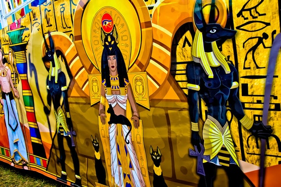 Egyptian Carnival Artwork Fine Art Print or Canvas Gallery Wrap