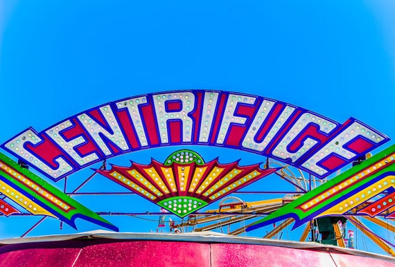 Centrifuge Ride Neon Carnival Fine Art Print or Canvas Gallery Wrap