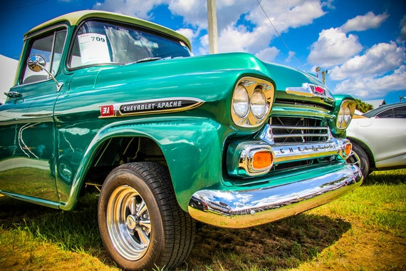 1959 Chevrolet Apache Pickup Truck Fine Art Print or Canvas Gallery Wrap