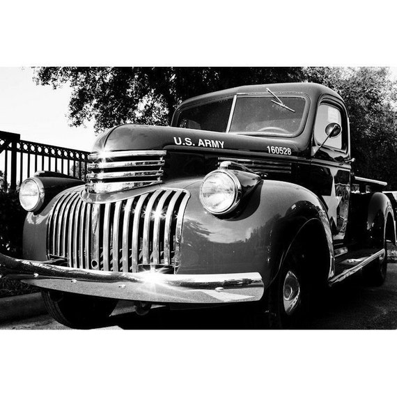 Vintage Truck Fine Art Print or Canvas Gallery Wrap