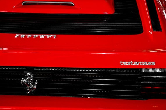 1988 Ferrari Testarossa Car Fine Art Print or Canvas Gallery Wrap