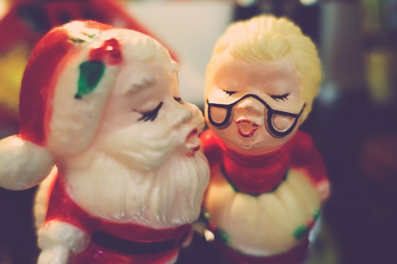 Vintage Mr. and Mrs. Santa Claus Fine Art Print or Canvas Gallery Wrap