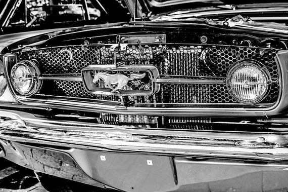 1965 Ford Mustang Muscle Car Fine Art Print or Canvas Gallery Wrap