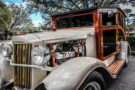 1930's Classic Rolls-Royce Car Fine Art Print or Canvas Gallery Wrap