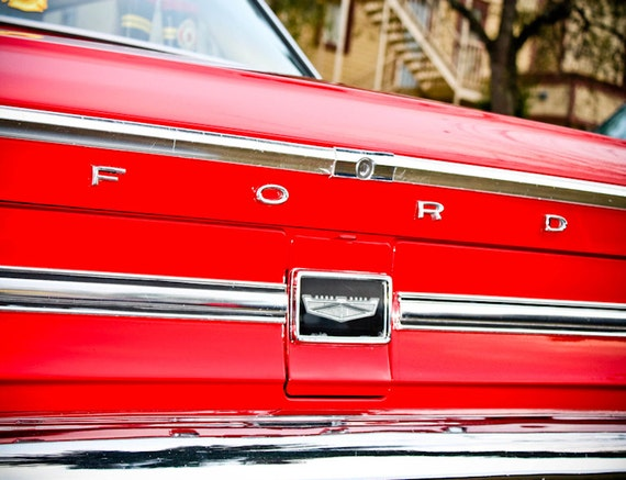 Ford Galaxie Lettering Car Fine Art Print or Canvas Gallery Wrap