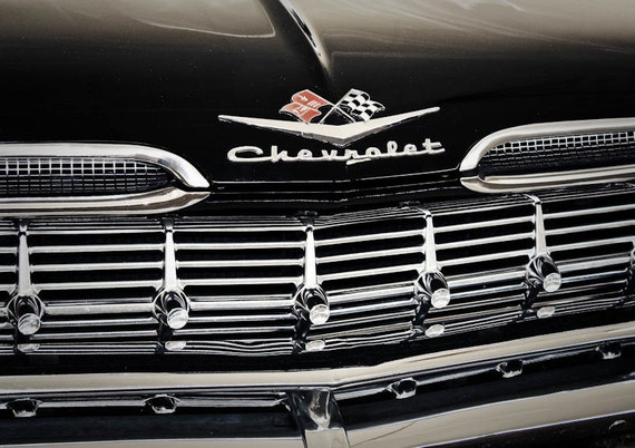 Chevrolet Lettering Car Fine Art Print or Canvas Gallery Wrap