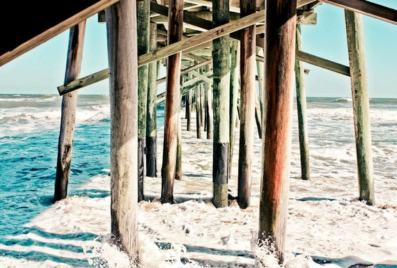 Under the Beach Pier Fine Art Print or Canvas Gallery Wrap