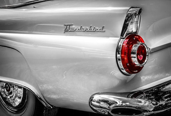 1956 Ford Thunderbird Car Fine Art Print or Canvas Gallery Wrap