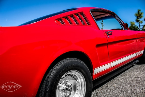 Ford Fastback Mustang Car 1965 Fine Art Print or Canvas Gallery Wrap
