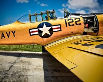 Vintage Airplane 2 Fine Art Print or Canvas Gallery Wrap