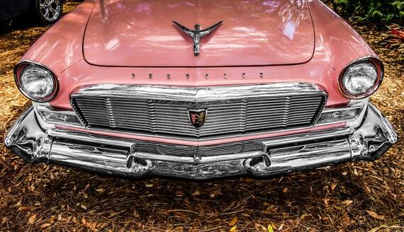 1956 Chrysler New Yorker PINK Car Fine Art Print or Canvas Gallery Wrap