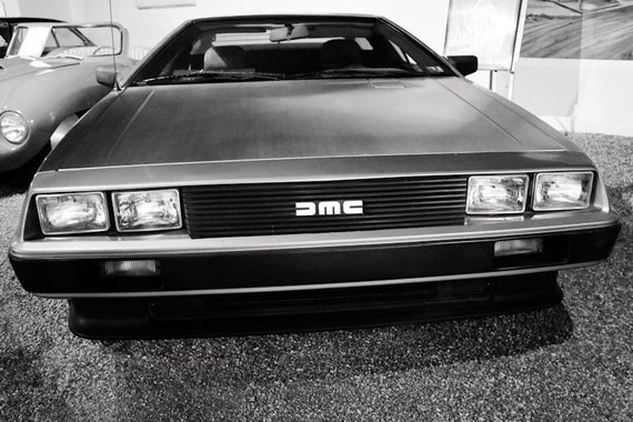 1981 DeLorean DMC-12 Front View Fine Art Print or Canvas Gallery Wrap