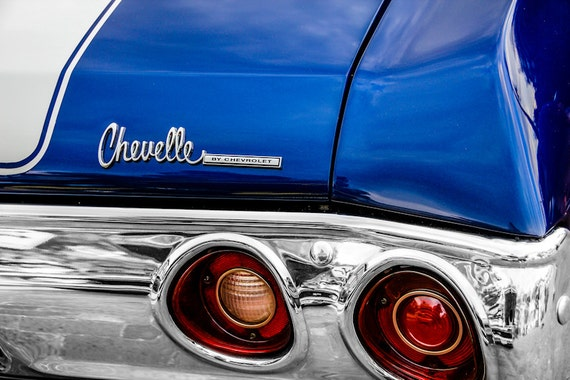 Chevrolet Chevelle Lettering Car Fine Art Print or Canvas Gallery Wrap