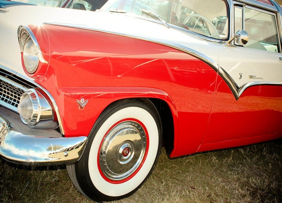 Ford Crown Victoria Car 1955 Fine Art Print or Canvas Gallery Wrap