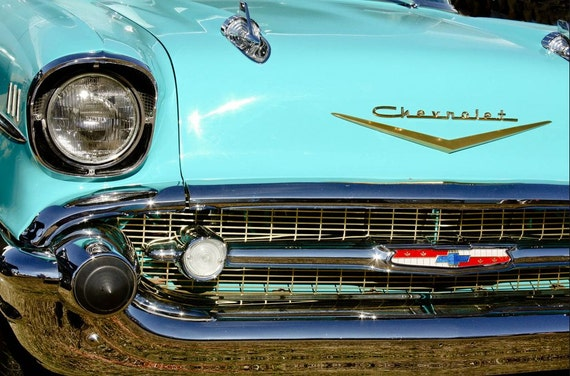 Chevrolet Bel Air Car Fine Art Print or Canvas Gallery Wrap