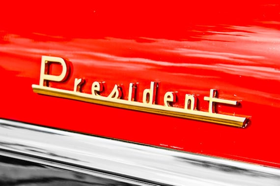 Studebaker President Lettering Car Fine Art Print or Canvas Gallery Wrap