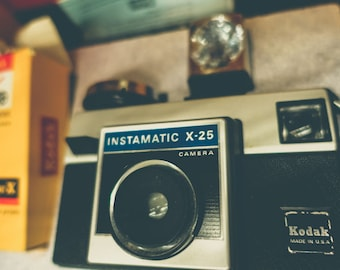 Vintage Kodak Instamatic X-25 Camera Fine Art Print or Canvas Gallery Wrap