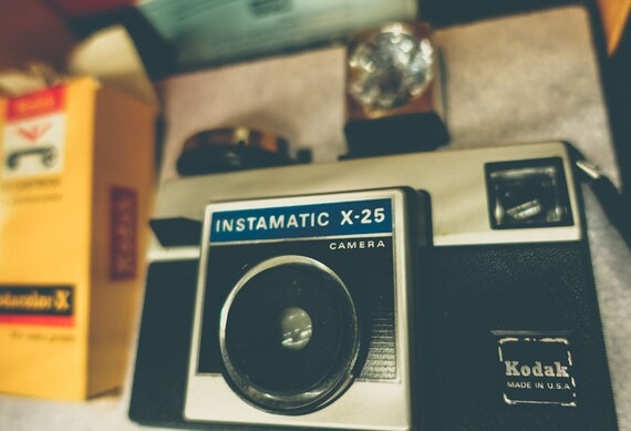Vintage Kodak Instamatic X-25 Camera Fine Art Print or Canvas Gallery Wrap
