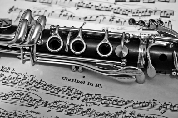 Clarinet Music Concerto Fine Art Print or Canvas Gallery Wrap