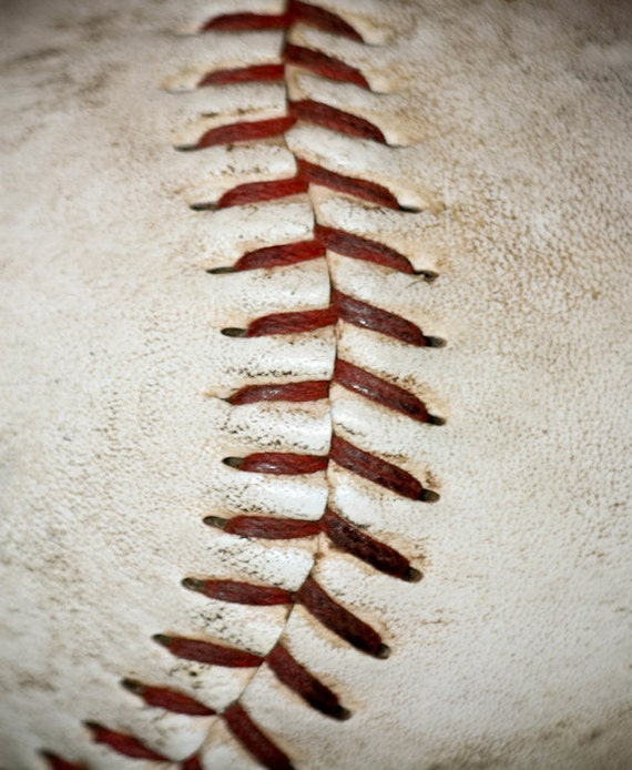 Baseball Stitching Fine Art Print or Canvas Gallery Wrap