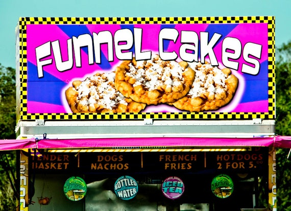Funnel Cake Carnival Vendor Stand Fine Art Print or Canvas Gallery Wrap