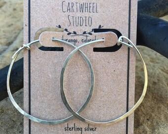 Medium Sterling Silver Hoops