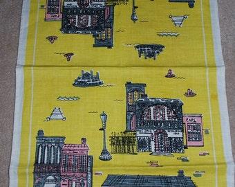 Vintage Mid Century New Orleans Kitchen Towel- Suzanne Meister Design