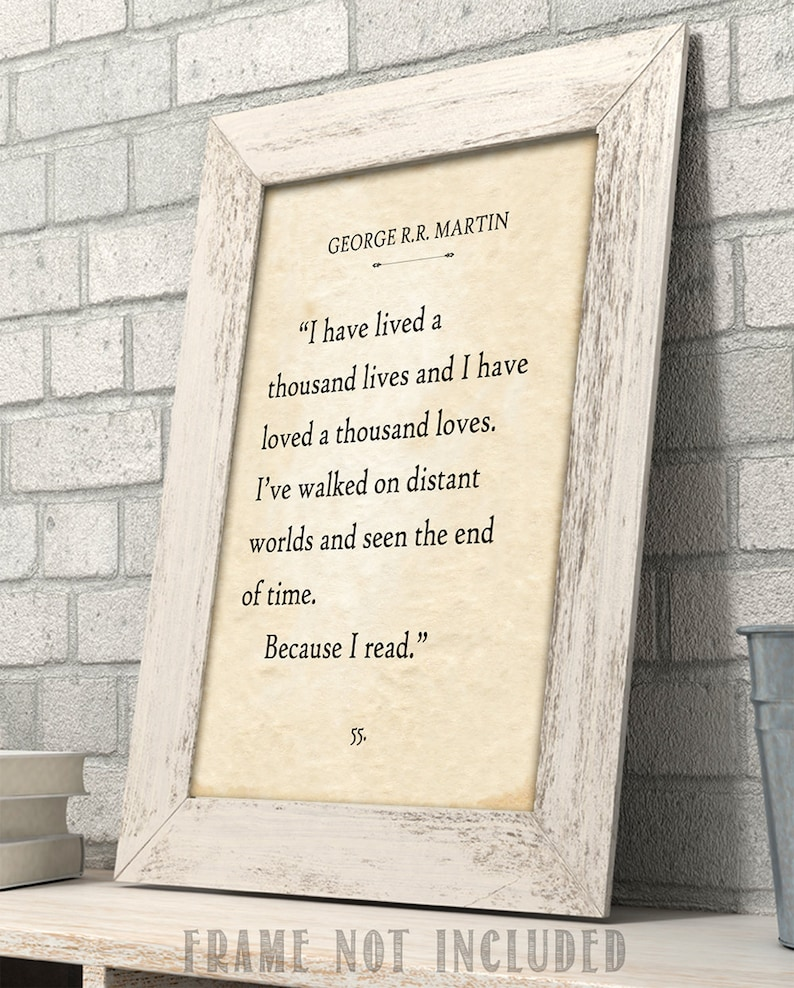 George Rr Martin I Have Lived A Thousand Lives Book Page Etsy