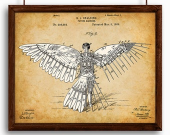 Icarus/Human Flight Flying Machine - Printable Art - Great Gift for Pilots - Instant Download