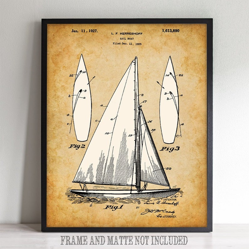 image regarding Sailboat Printable known as Sailboat - Printable Artwork - Fantastic Present for Sailing Fans and Seaside Room or Lake Dwelling Decor - Immediate Down load