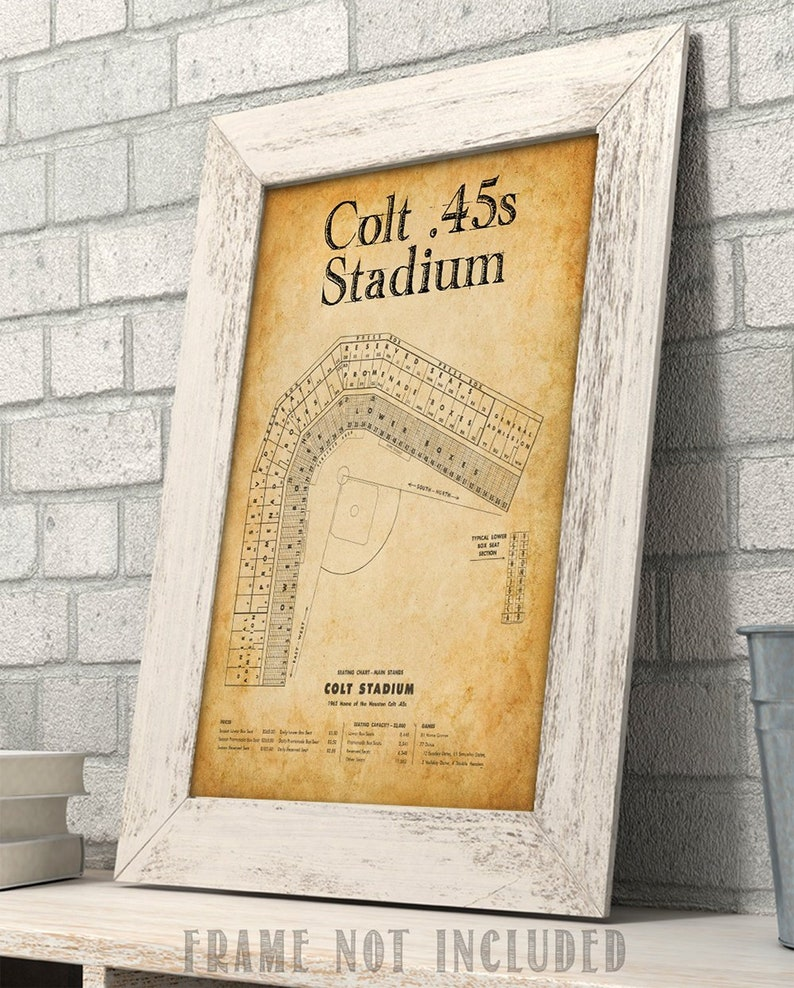 11x14 Unframed Art Houston Minute Maid Park Baseball Seating Chart Art Print