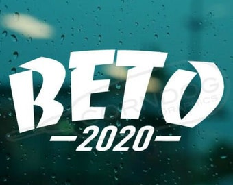 Beto 2020 STICKER VINYL DECAL DEMOCRATE BLUE LIBERAL THRASHER SKATE PRESIDENT