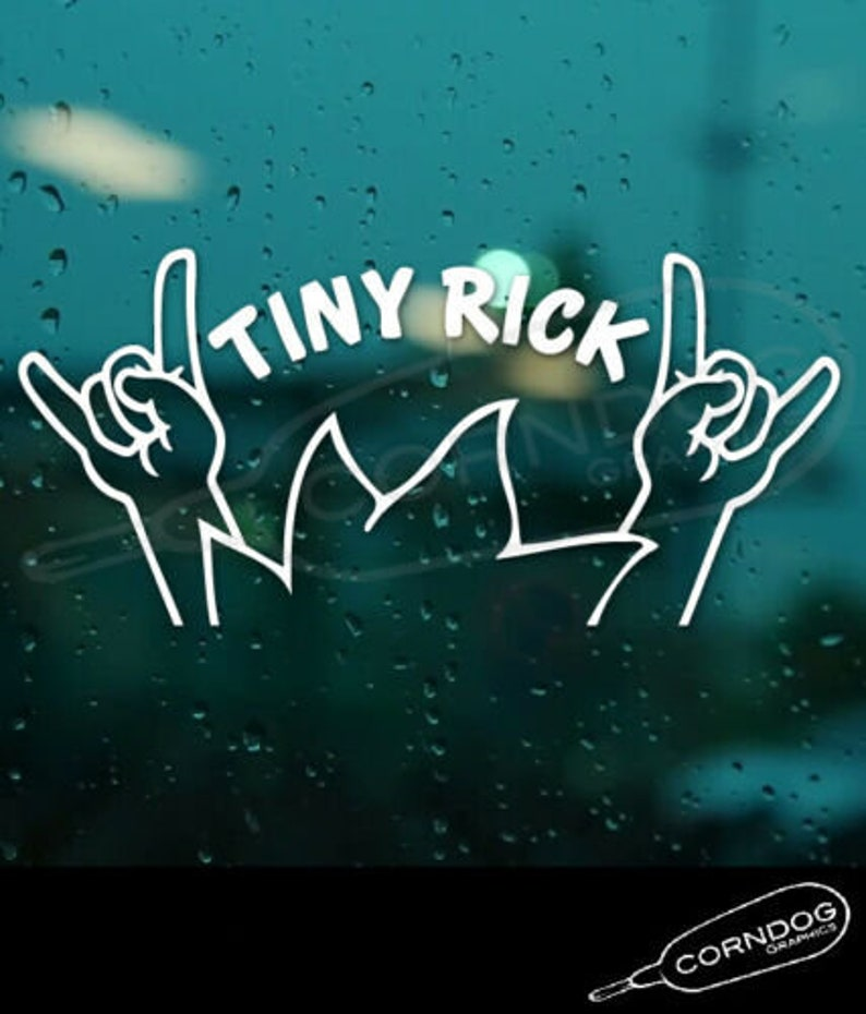 Tiny Rick STICKER VINYL DECAL ADULT SWIM CARTOON NETWORK RICK AND MORTY