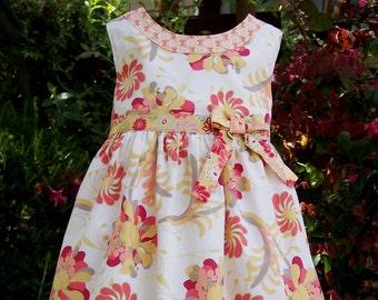 Girls dress pattern, LILLIE MAE Dress, girls sewing pattern, instant digital download PDF, toddler sewing pattern, photo tutorial, sizes 2-8