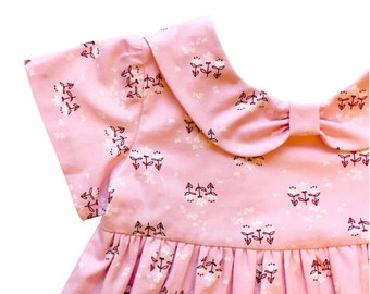 BABY DRESS PATTERN, 3 styles in 1 pattern, so many possibilities, digital sewing pattern, 4 sizes to fit ages 6-24 months, The Alaina Dress