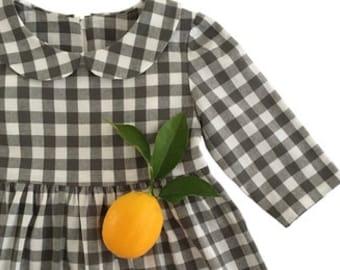Girls Dress Pattern, The VALERIE DRESS, toddler dress pattern, girls sewing pattern, Peter Pan collar, classic style, digital PDF download