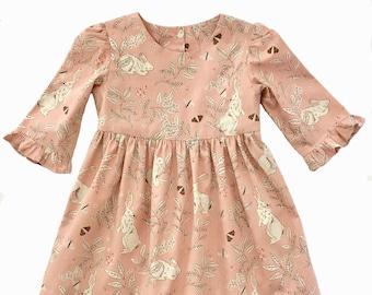 Girls dress pattern, The MARGO DRESS, toddler dress pattern, sewing pattern, instant download PDF, girls sewing pattern pdf, buttons in back