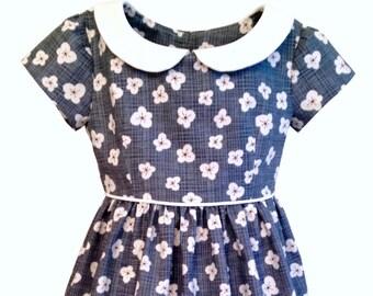 Girls Dress Pattern, VINTAGE KATE Dress, toddler dress pattern, Peter Pan collar, PDF sewing pattern, instant download, vintage style